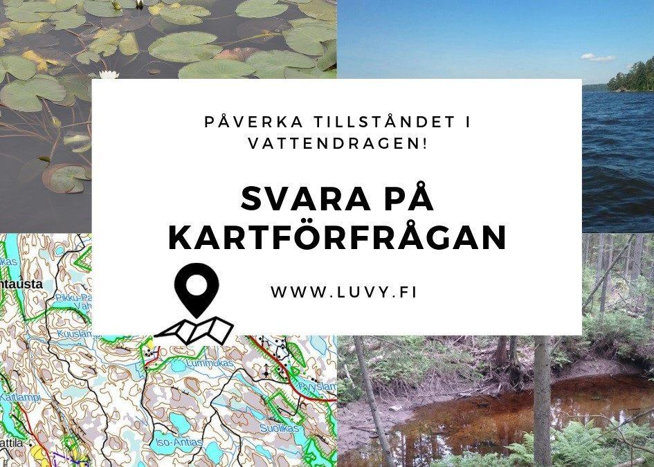Berätta dina observationer, önskemål och bekymmer gällande vattenkvalitén i Västra Nyland – svara på en kartbaserad förfrågan!