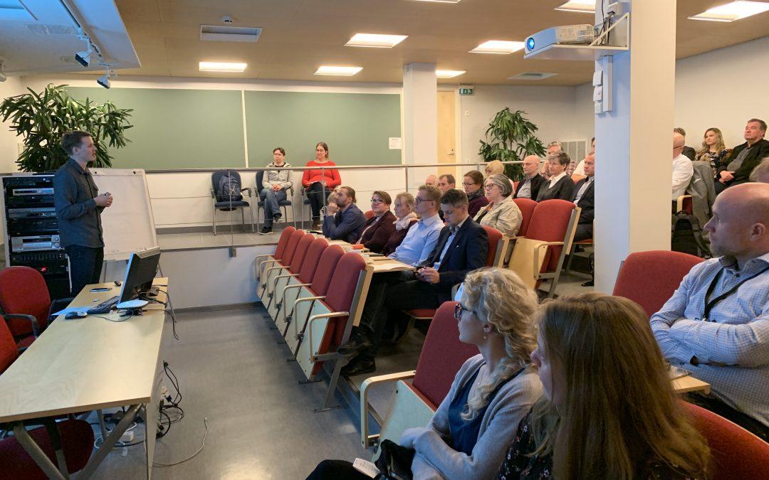 Lohjanseudun ympäristöklusterin kiertotalousseminaari kokosi Lohjalla laajan osallistujajoukon