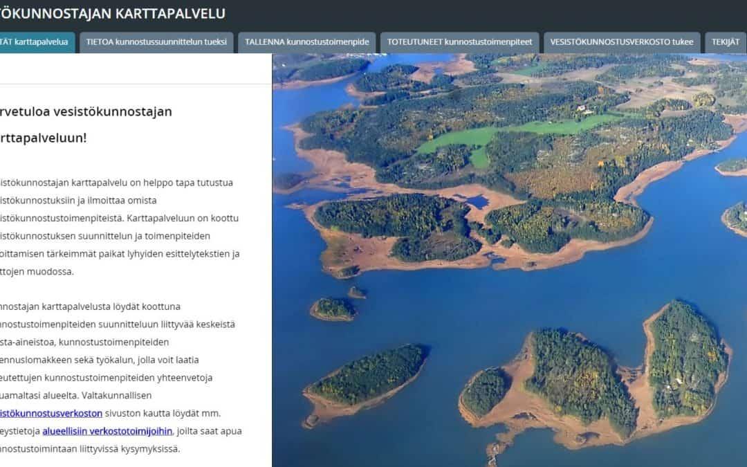 Den nya karttjänsten för vattendragsrestaurerare samlar information och ökar samarbetet
